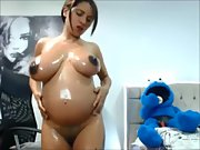 Wife hottie busty slut webcam unveiled before and during pregnancy