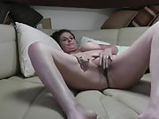 Mature wifey getting her tits out and pummeled in cabin on our boat