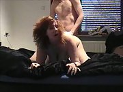 A busty wife getting it on and enjoying it vagina finger-tickled then drilled