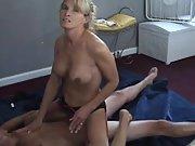 Naughty cuckold wife riding a stranger's hard fuckpole