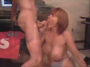 Big hooter mummy sucking cocks in amateur compilation