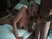 Playful mature bitch enjoys the experiencing of a rigid hard-on in her jaws