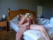 Busty mom takes care of her son's crazy friend