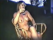 Yvonne nude outside with hard nipples