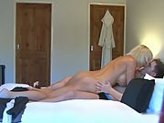 Young boy is lucky to fuck an impressive sexy busty housewife