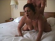 Cheating wife gets assfuck in hotel room