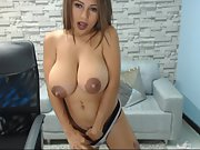 Amateur sweetie huge-boobed cockslut webcam with impressive areolas p1